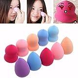 Facial Tissue Box Cover - LtrottedJ 10pcs Pro Beauty Makeup Blender Foundation Puff, Multi Shape Sponges
