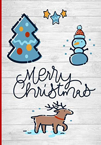 Merry Christmas: Cute Christmas cover with a snowman and a reindeer:  7