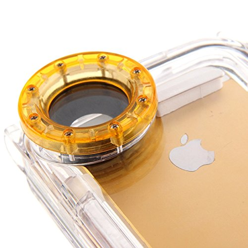 Mxnet Wasserdichtes Foto Gehäuse Unterwasser Fall für iPhone 5 & 5s & SE, wasserdicht: IPX8 rutschsicher Telefon-Kasten ( Color : Orange )