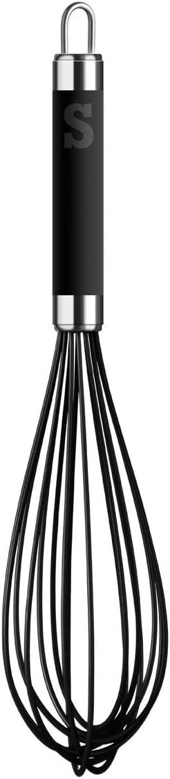 Sorted Ladle Whisk Peeler Masher Turner Stainless Steel Black Soft Grip Handle Sorted Ladle