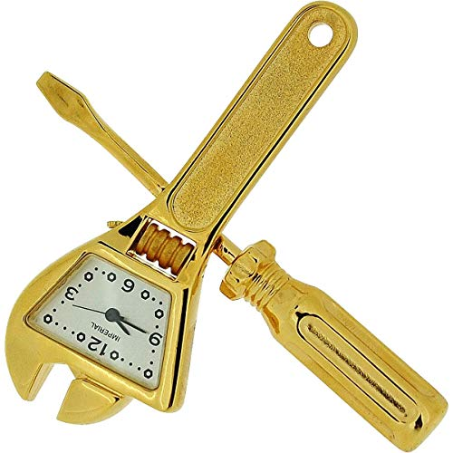 GTP Miniature Goldtone Spanner & Screwdriver Tool Set Collectors Clock IMP1033 (Miniature Clocks)