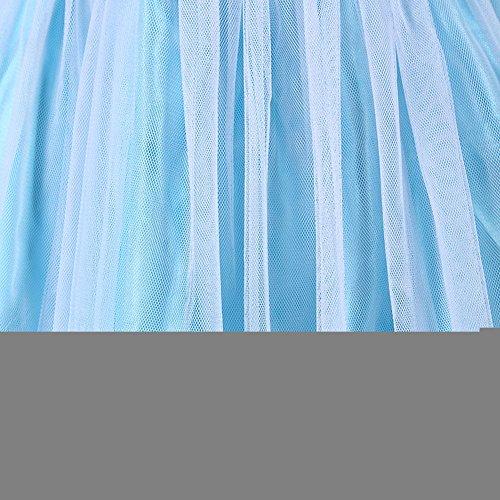 Girls Snow Queen Costume Elsa Dress Christmas Princess Dress Up