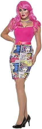 Forum Disfraz de cómic Impreso para Mujer, Disfraz de Adulto, como se Muestra, estándar
