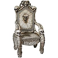 Dark Ruler of the Underworld Skull Throne Chair 57 Inch Tall