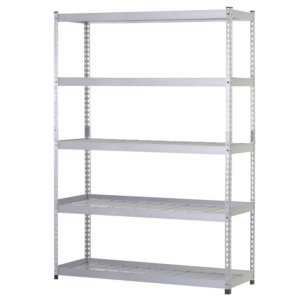 48 in. W x 24 in. D x 78 in. H Steel 5 Shelf