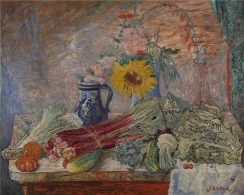 Oil Painting 'James Ensor - Flowers And Vegetables,1896' Printing On Perfect Effect Canvas , 20x25 Inch / 51x64 Cm ,the Best Garage Gallery Art And Home Artwork And Gifts Is This Reproductions Art Decorative Prints On Canvas]()