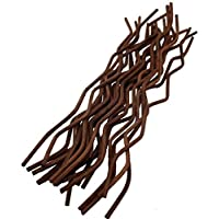 jecengs Brown Wavy Rattan Reed Fragrance Diffuser Replacement Refill Sticks (100, 10inch)