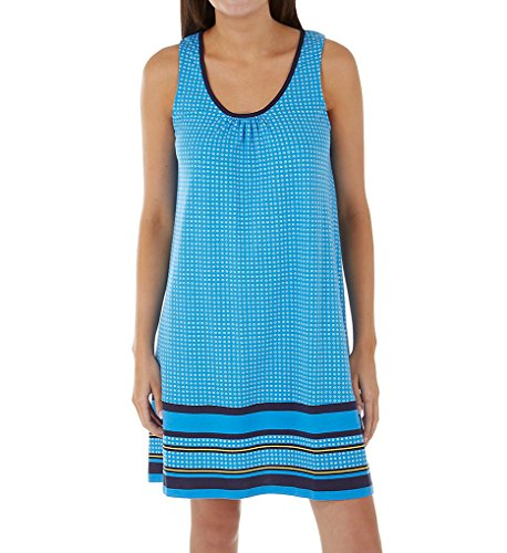 Jockey Women's Sleeveless Chemise with Border Print, Tiny Geo Dot, (Border Sleeveless)