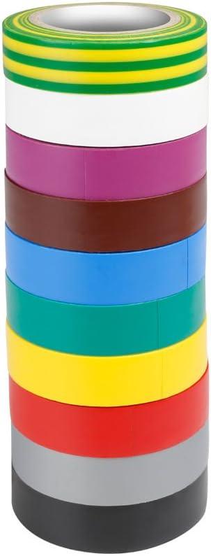 ah Accesorios 580813RNB10 10 colores conjunto de cintas (0,13 x 15 mm x 10 m)