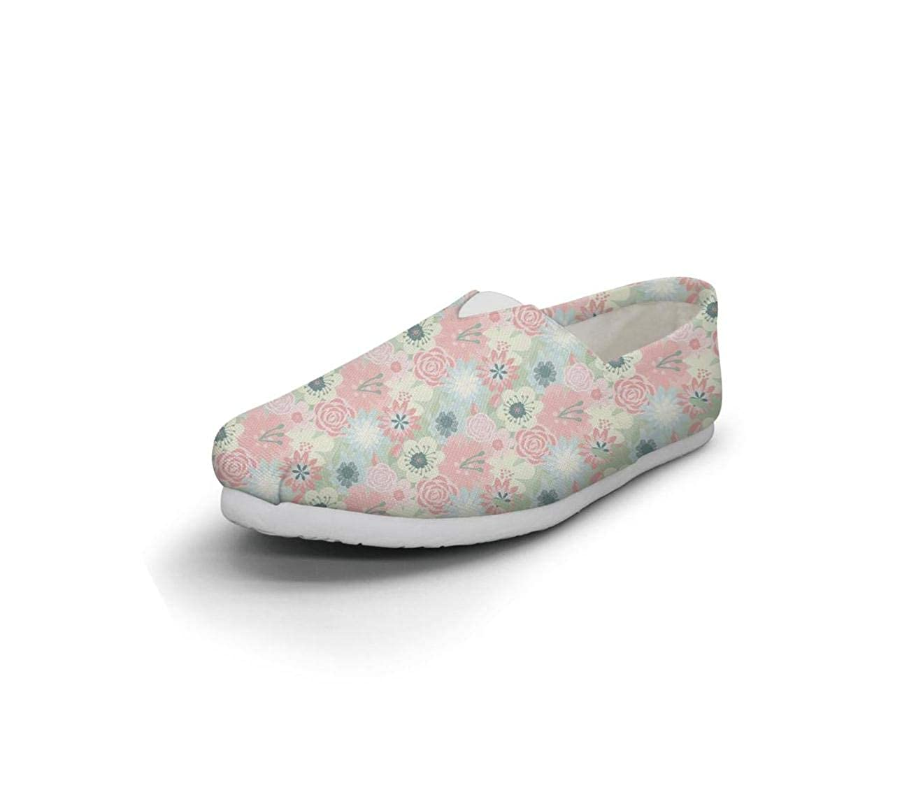 Colorful Watercolor Flower Seamless Tropical Patterns Womens Loafer Shoes for Womens Classic Comfortable and Lightweight