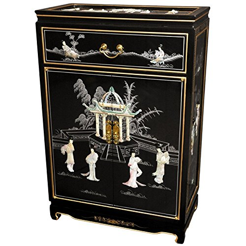 Black Oriental Storage Cabinet (Oriental Furniture 36