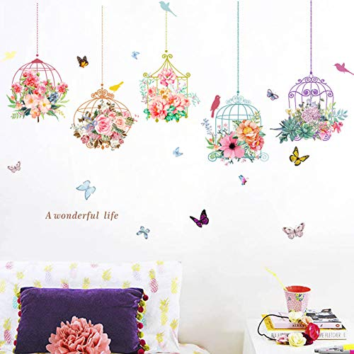 Colorful Birdcage Butterfly Background Decoration product image