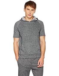 Young Men's Short Sleeve Pullover Hoodie Sweatshirt Top