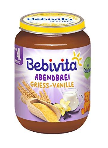 Bebivita Grieß -Vanille, 6er Pack (6 x 190 g) 1082-01 Babynahrung