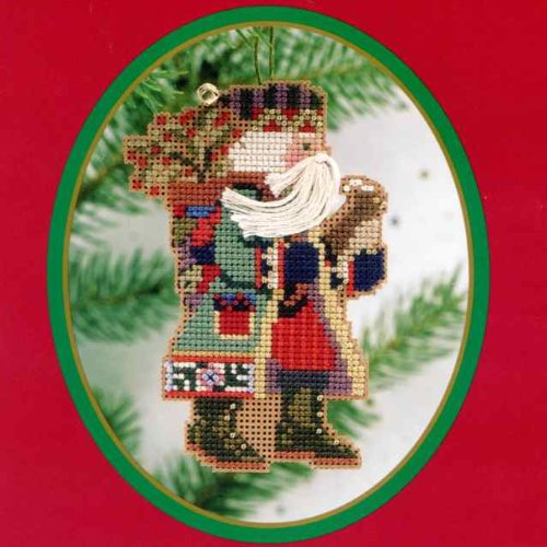 (Holly Berries Santa (beaded kit) )
