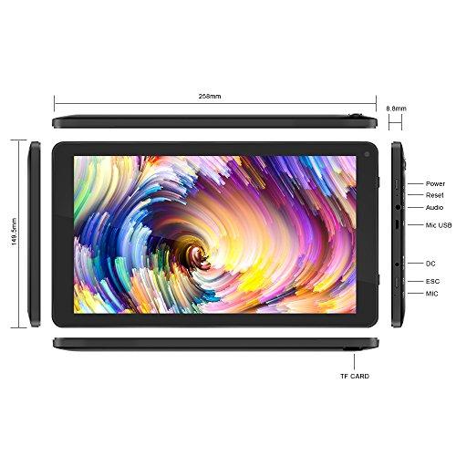 Yuntab D102 10.1 inch Android 6.0 Tablet PC Allwinner A33 Quad Core 1GB/8GB 1024 x 600 TFT LCD 5500 mAh Dual Camera WIFI (Black) by Yuntab (Image #4)