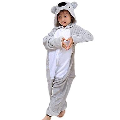 fd6a39f32ff01 Magicmode Unisexe Enfants De Dessin Animé Gris Koala Un Morceau Grenouillère  Pyjama Costume De Cosplay  Amazon.fr  Vêtements et accessoires