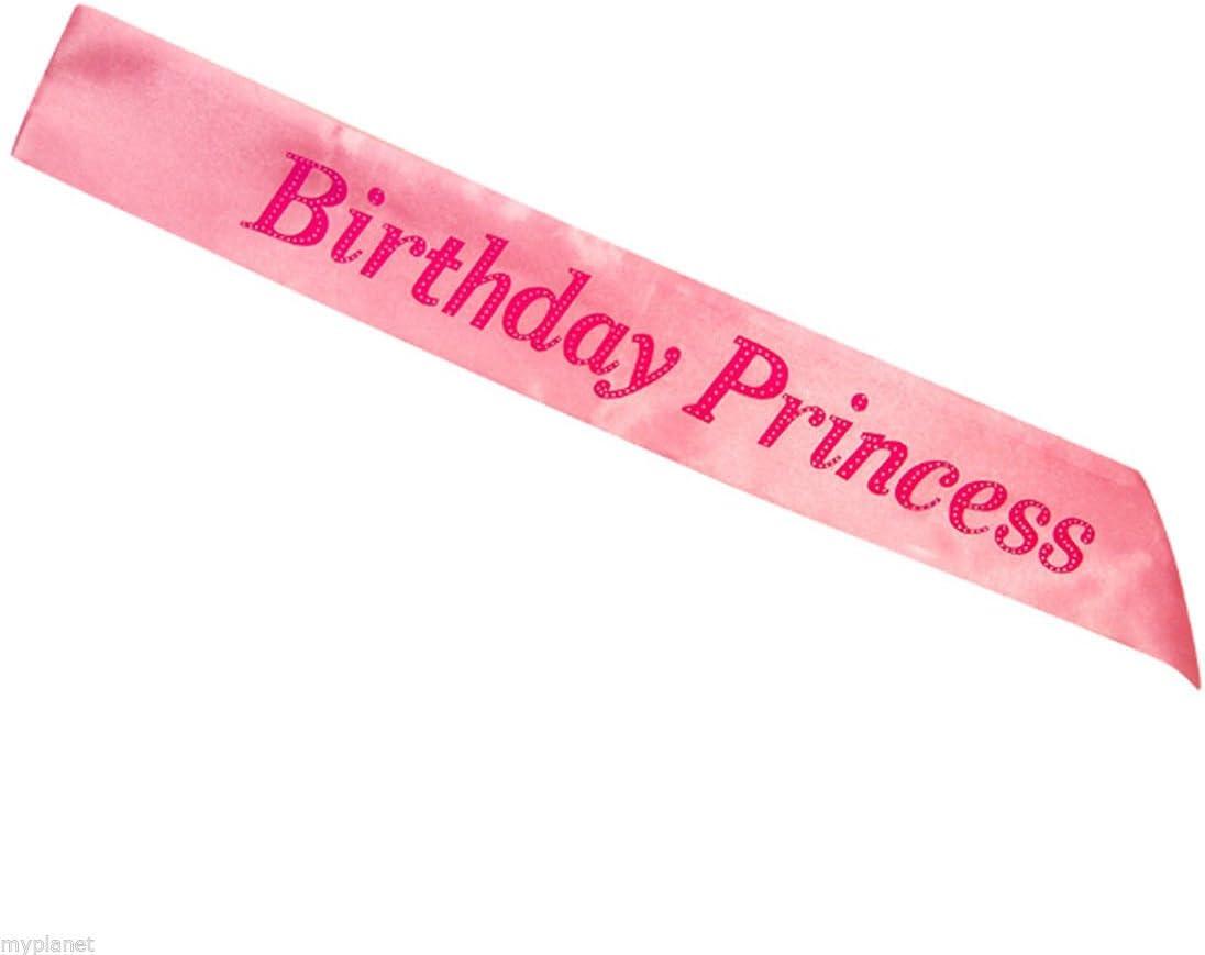 Birthday Girl Sash Birthday Party Night Out 16 18 21 30 40 50 Black /& Pink NEW