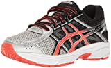 ASICS Unisex-Kids Gel-Contend 4 GS Running Shoe, Silver/Cherry Tomato/Black, 7 Medium US Big Kid