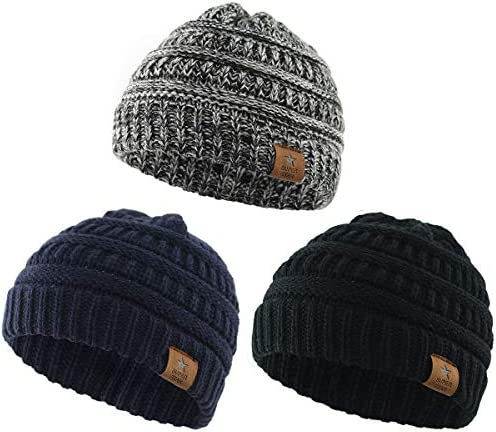 Durio Knitted Chunky Toddler Beanies