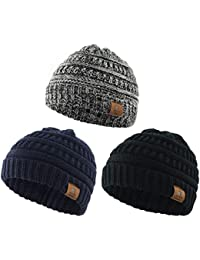 Soft Warm Knitted Baby Hats Caps Cute Cozy Chunky Winter Infant Toddler Baby  Beanies Boys Girls 5510fdf32426