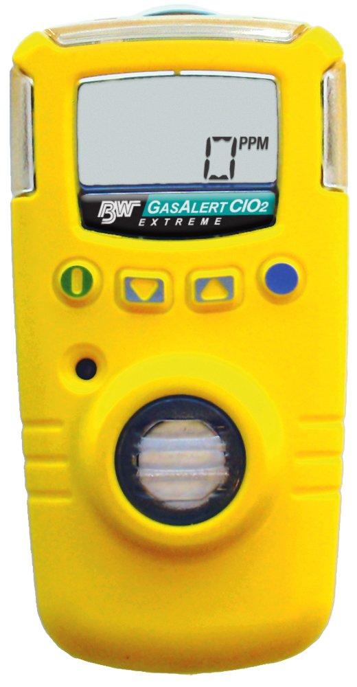 BW Technologies GAXT-V-DL GasAlert Extreme Chlorine Dioxide (ClO2) Single Gas Detector, 0-1 ppm Measuring Range, Yellow