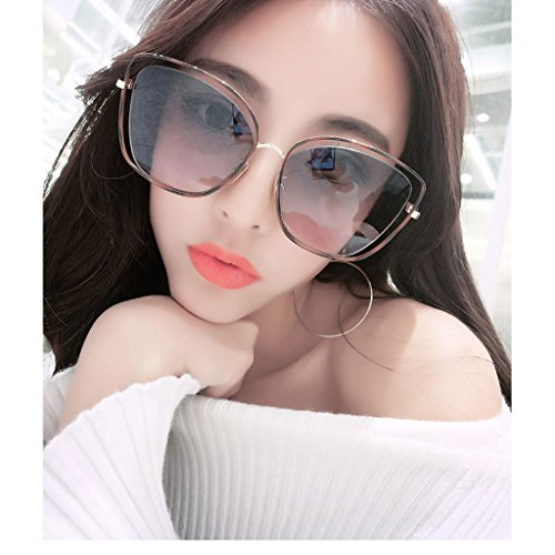Gafas Hueco De Alrededor GAOYANG Lentes B Gafas Grande De Color Cara Nylon Gafas Sol A De De Sol Mujer De Caja De La Sol Vendimia Moda R0qWRP