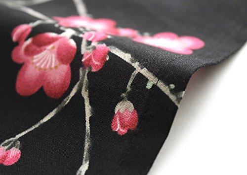 Japanese Women's Kimono Robe Happi Coat Dress Cotton Bird Plum Black by Kimono Japan (Image #5)