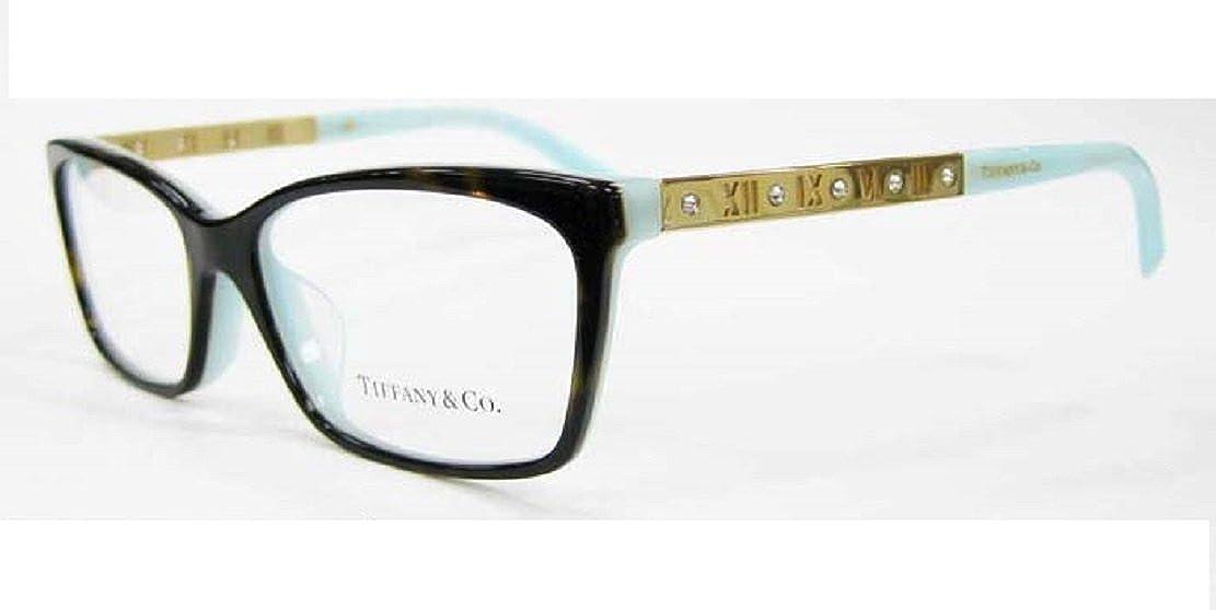 7aefe1a8149 Tiffany Optical 0TF2103BF Full Rim Rectangle Woman Sunglasses - Size 55  (Havana Blue   Clear Lens)  Amazon.co.uk  Clothing