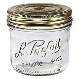 6 Le Parfait Familia Wiss Terrines - Wide Mouth French Glass Mason Jars - Preserve, Store, Serve, Décor (6, 500ml - 16oz - Pint)