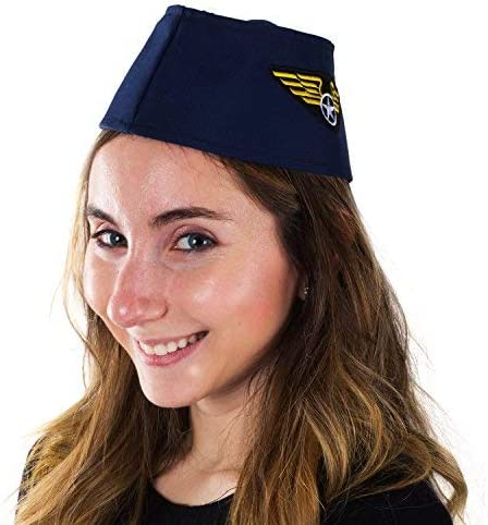 Couples Costumes Tigerdoe Pilot Hat Pilot and Flight Attendant Costume 2 Pack Captain Pilot Hat