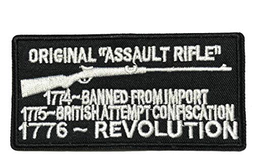 Original Assault Rifle - 1776 -. Embroidered Patch Tactical Military Morale Biker Motorcycle Quote Saying Humor Series Iron or Sew-on Emblem Badge Appliques Application Fabric Patches (Best Assault Rifle Brands)