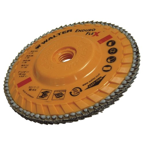 "Walter Enduro-Flex Flap Disc, 5"" diameter, 80"