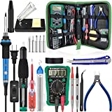 handskit Soldering Iron Kit, 18-in-1 Soldering Kit 60W 110V Adjustable Temperature Controlled Welding