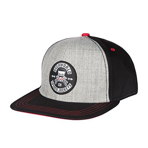 r Jockey Snapback Baseball Hat (Black/Gray, Youth Fit) (Officially Licensed Spider)