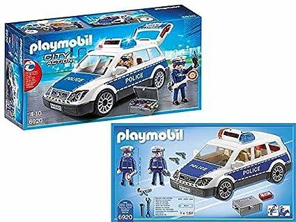 Playmobil Coche de policía Juegos Idea regalo # AG17: Amazon ...