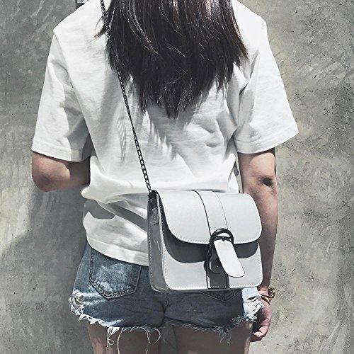 Powlance pour femme porter l'épaule Sac à Gris à n8qnwHxg
