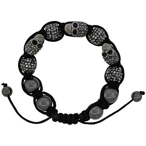 Shamballa Inspired Crystal Bracelet Hematite