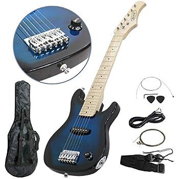zeny 30 39 39 electric guitar set beginner kits for kids with gig bag cable strap black. Black Bedroom Furniture Sets. Home Design Ideas