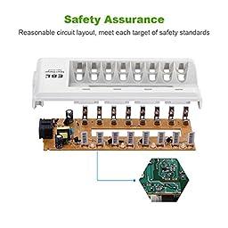 EBL 8 Bay AA, AAA, Ni-MH, Ni-Cd Rechargeable Battery Charger
