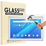 Luffytops Lenovo Tab 4 10 Screen Protector, [High Definition] [Scratch Resistant] Ultra Clear 9H Hardness Tempered Glass Film for Lenovo Tab4 10 (TB-X304F,N) 10,1' - 2 Pack