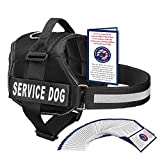 backpack service dog - Service Dog Harness With Hook and Loop Straps and Handle | Available In 7 Sizes From XXS to XXL | Vest Features Reflective Patch and Comfortable Mesh Design