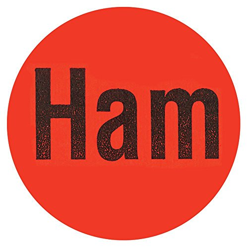 Ham Labels Red Deli Dot Packaging Labels Black Imprint - 1
