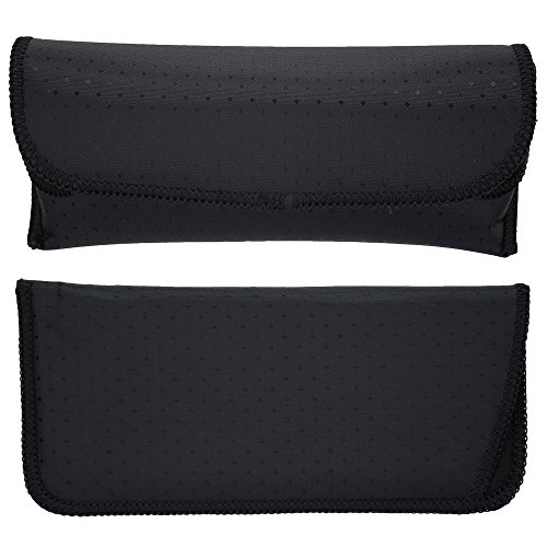 Set of Slip in Eyeglass Pouch & Semi Hard Glasses Case & Holder - Women's Eyewear Sleeve - For Sunglasses, Eyewear & Frames , Black, By OptiPlix