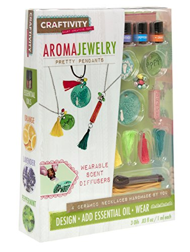 Price comparison product image CRAFTIVITY AromaJewelry - Pretty Pendants - Essential Oil Jewelry Making Kit
