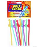 Party Pecker Straws 10pk – 5 Asst Colors
