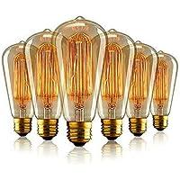 Aurora Edison Gloeilamp 40W, E27 Schroef Lamp 220-240V, Vintage Gloeidraad Gloeilampen ST64 Dimbaar, Antieke Decoratieve…