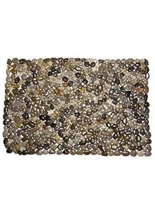 """Grey River Rock 34"""" Stones Extra Large Rock Door Mat Doormat Indoor Outdoor"""