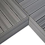 NewTechWood QD-IF-LG QuickDeck Composite Deck Tile Inside Corner Trim, 2-Inch x 1-Feet, Westminster Gray, 2-Piece