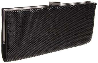 Whiting & Davis Dallas 1-5827BK Clutch,Black,One Size